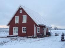 Rotes Haus im Winter 289